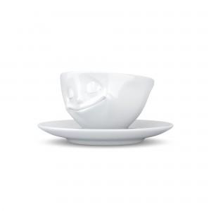 EspressoTasse-Glücklich-Weiß