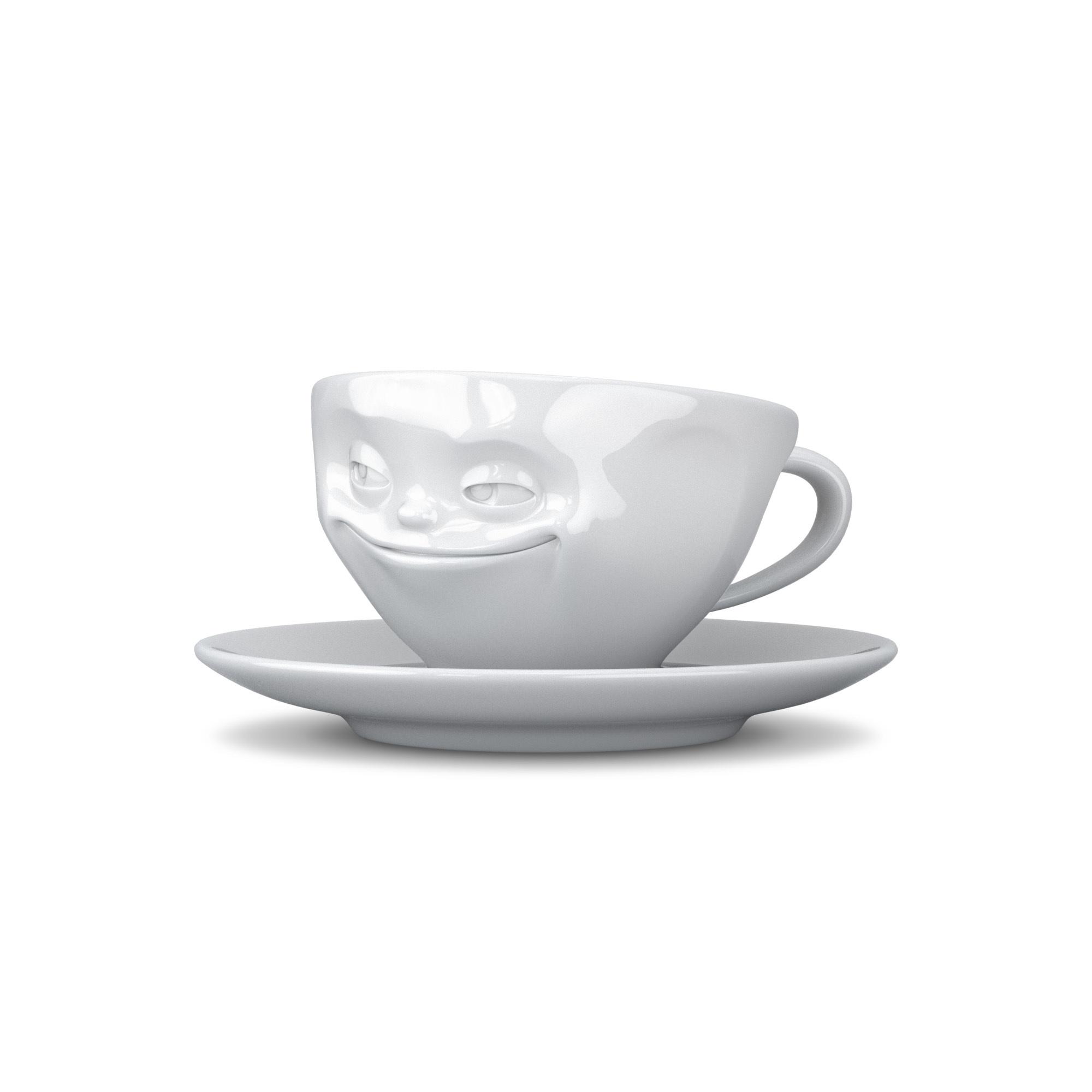 EspressoTasse-Grins-Weiß