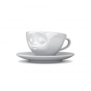 EspressoTasse-Kuss-Weiß