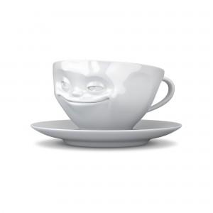 KaffeeTasse-Grins-Weiß