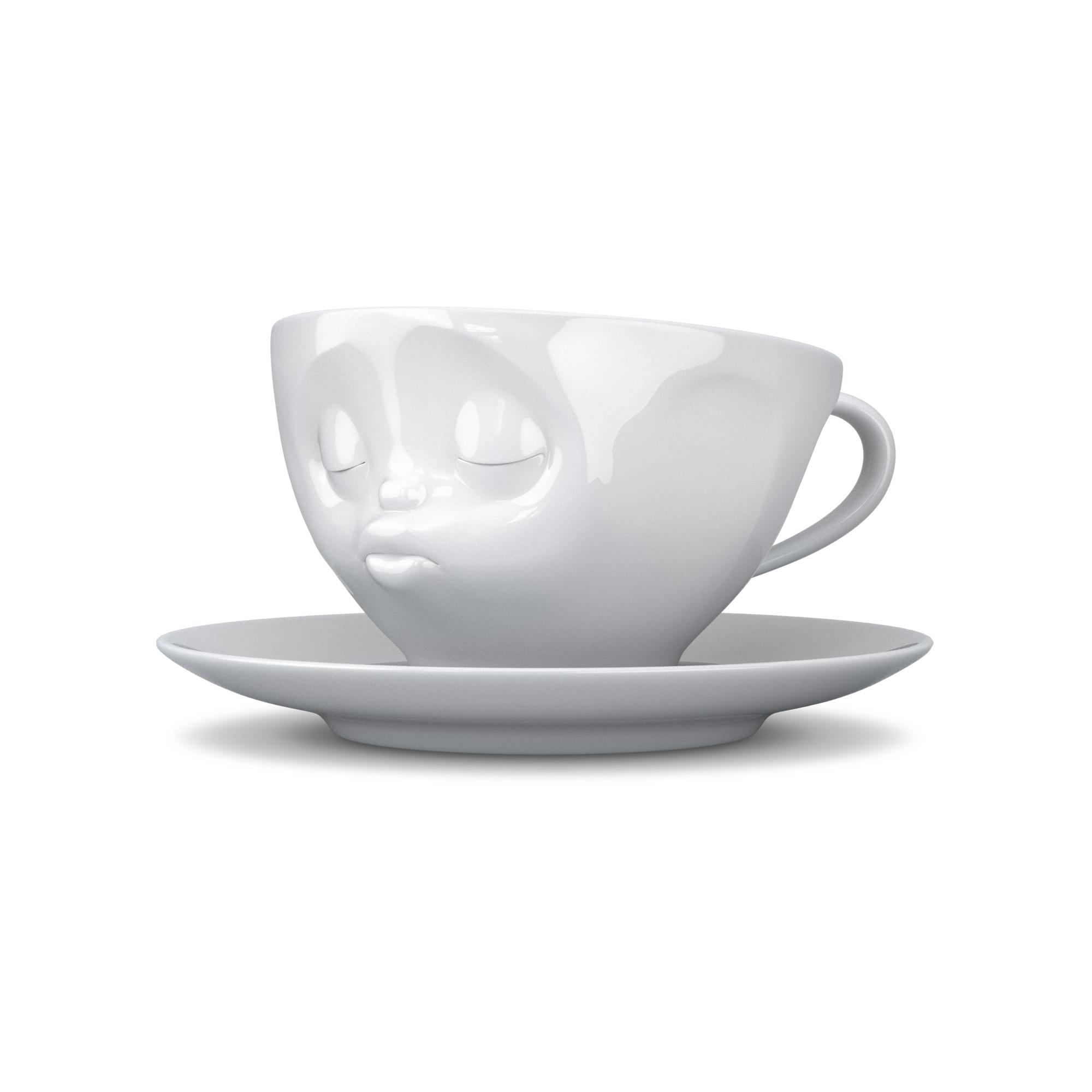 KaffeeTasse-Kuss-Weiß