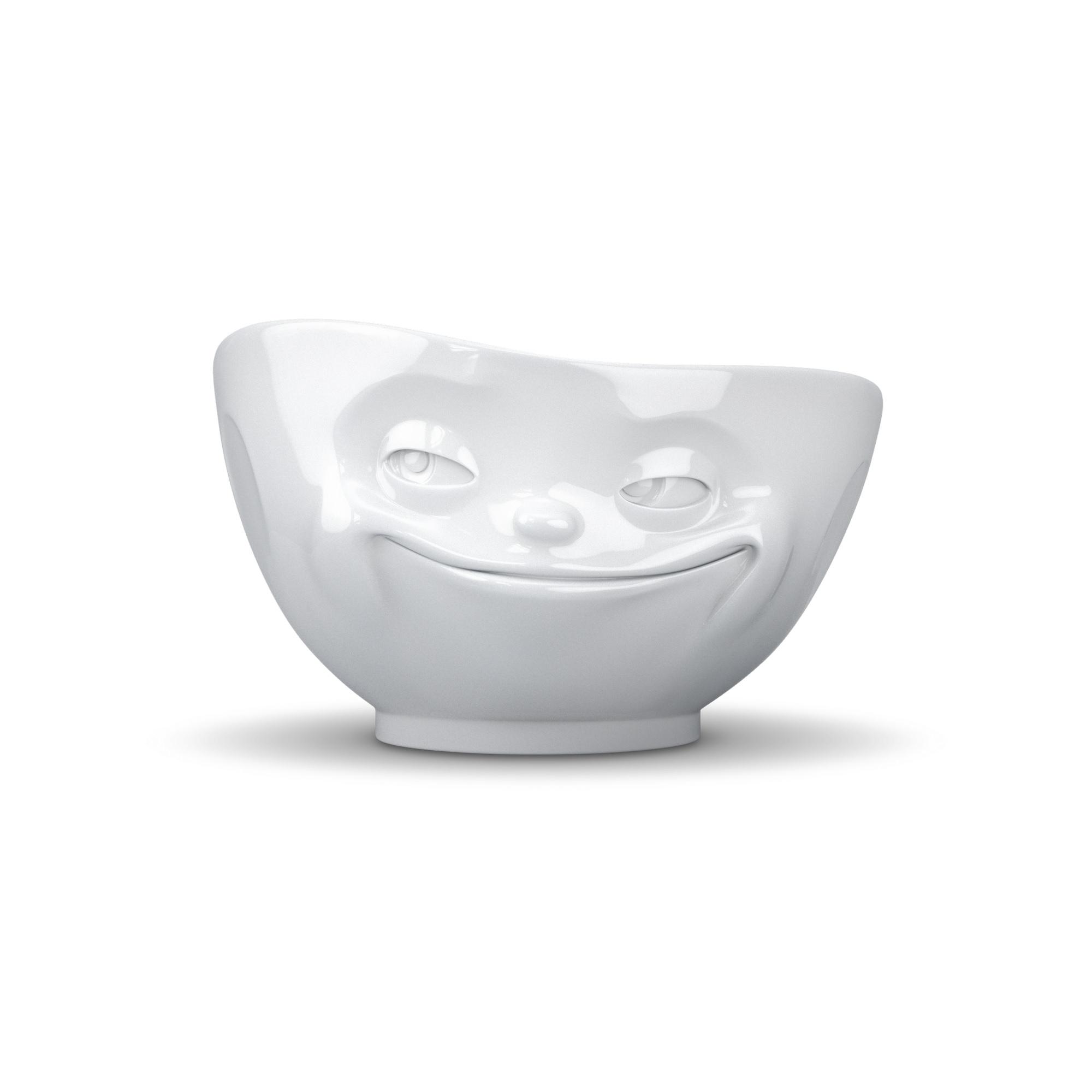 Schale-Grins-Weiß